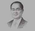 Sketch of Lim Hng Kiang, Singapore Minister for Trade and Industry (Trade)