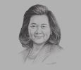 Sketch of Usanee Sangsingkeo, Acting President, Thai Airways International (THAI)