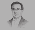Sketch of Virapatna Thakolsri, Managing Director, Biopharm Chemicals