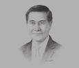 Sketch of Weerasak Kowsurat, Chairman, Thailand Convention & Exhibition Bureau (TCEB)