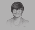 Sketch of Leanne Harwood, Vice-President of Operations for South-east Asia and Korea, InterContinental Hotels Group
