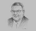 Sketch of Gerry Brownlee, Minister of Foreign Affairs of New Zealand