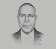Sketch of Thomas Abe, Managing Director, Kumul Consolidated Holdings (KCH)