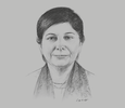 Sketch of Shamshad Akhtar, Executive Secretary, UN Economic and Social Commission for Asia and the Pacific (ESCAP)