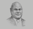 Sketch of Clarence Hoot, Acting Managing Director, Investment Promotion Authority (IPA)