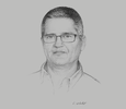 Sketch of Matthew Kearns, General Manager, QBE Insurance