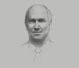 Sketch of Peter Graham, Managing Director and CEO, Ok Tedi Mining; and Chairman, Kumul Minerals Holdings