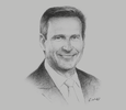Sketch of Andrew Barry, Managing Director, ExxonMobil PNG