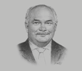 Sketch of Peter Botten, CEO, Oil Search