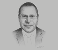 Sketch of Paulus Ain, Commissioner and CEO, Independent Consumer and Competition Commission (ICCC)