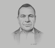Sketch of Jerry Agus, CEO, Papua New Guinea Tourism Promotion Authority
