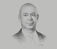 Sketch of Derek Hudson, Vice-President, Shell Trinidad and Tobago