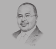 Sketch of Mounir Gwarzo, Director-General, Securities and Exchange Commission (SEC)