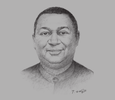 Sketch of Mohammad Sanusi Barkindo, Secretary-General, Organisation of the Petroleum Exporting Countries (OPEC)