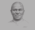 Sketch of Emmanuel Ibe Kachikwu, Minister of State, Petroleum Resources