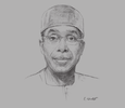 Sketch of Audu Innocent Ogbeh, Minister of Agriculture