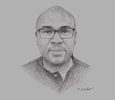 Sketch of Jason Njoku, CEO, Iroko