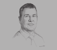 Sketch of Mark Wagstaff, Country Manager West Africa, Pfizer