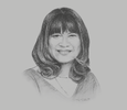 Sketch of Shinta Widjaja Kamdani, CEO, Sintesa Group