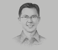 Sketch of Ben Ng, President Director, AIA Financial Indonesia