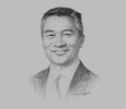 Sketch of Loh Boon Chye, CEO, Singapore Exchange (SGX)
