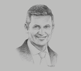 Sketch of Jens Reisch, President Director, Prudential Indonesia