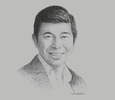 Sketch of Anthony Tan, Group CEO, Grab