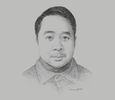 Sketch of Bram Hendrata, Managing Director, Ismaya Group
