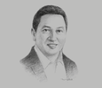 Sketch of Garibaldi Thohir, President Director, Adaro Energy