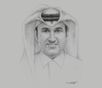 Sketch of Eisa Al Hammadi, CEO, Qatar Primary Materials Company (QPMC)