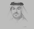 Sketch of Hamad Al Ibrahim, Executive Vice-President, Qatar Foundation Research and Development (QF R&D); and Chairman, Qatar Science & Technology Park (QSTP)