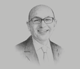 Sketch of Wadih AbouNasr, Country Senior Partner, PwC Qatar