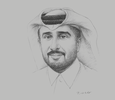 Sketch of Hassan Al Ibrahim, Acting Chairman, Qatar Tourism Authority (QTA)