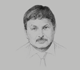 Sketch of Mohammed Dib, General Manager, Groupe Général Maritime