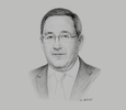 Sketch of Abdelmoumen Ould Kaddour, CEO, Sonatrach
