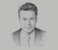 Sketch of Tobias Becker, Senior Vice-President and Africa Director, ABB