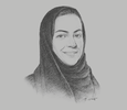 Sketch of Rania Nashar, CEO, Samba Financial Group