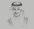 Sketch of Ahmed Al Khateeb, Chairman, Saudi Arabian Military Industries (SAMI); and Advisor to the Minister of Defence