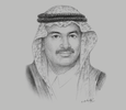 Sketch of Ghassan Al Shibl, Board Member and Managing Director, Saudi Research and Marketing Group