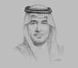 Sketch of Majed Al Hogail, Minister of Housing
