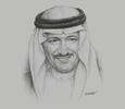 Sketch of Prince Sultan bin Salman bin Abdulaziz Al Saud, Chairperson and President, Saudi Commission for Tourism and National Heritage (SCTH)