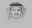 Sketch of Dr Haitham Alfalah, CEO, King Saud Medical City