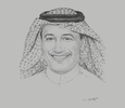 Sketch of Fahad Abuhimed, Managing Partner, Abuhimed Alsheikh Alhagbani Law Firm in cooperation with Clifford Chance