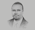 Sketch of James Asare-Adjei, Former President, Association of Ghana Industries (AGI); and CEO, Asadtek Group