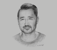 Sketch of Jørn Lyseggen, Founder and CEO, Meltwater Group