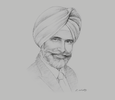 Sketch of Amardeep Singh Hari, CEO, IPMC