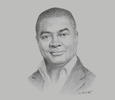 Sketch of David Ofosu-Dorte, Senior Partner, AB & David
