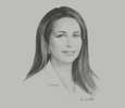Sketch of Princess Haya Bint Al Hussein, Chairperson, Dubai Healthcare City Authority