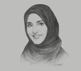 Sketch of Aisha bin Bishr, Director-General, Smart Dubai Office