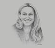 Sketch of Maria Helena Antolin, President, Spanish Association of Automotive Equipment and Component Manufacturers; and Vice-Chair, Grupo Antolin